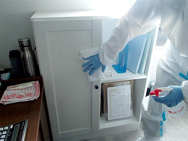 戸棚の消毒
